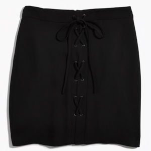 Madewell Lace-up Black Skirt size 4